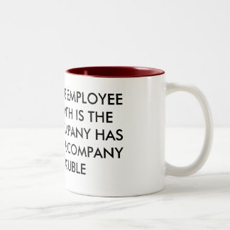 EMPLOYEE OF THE MONTH Two-Tone COFFEE MUG