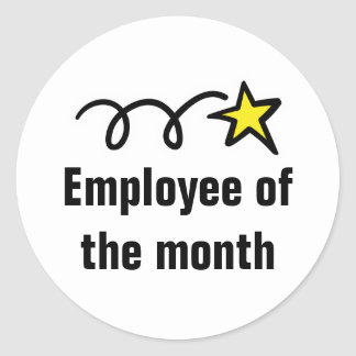 Employee of the month worker appreciation stickers