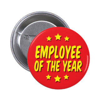 Employee of the year 2 inch round button