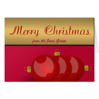 Employer, Project Manager, Team Leader Christmas Card
