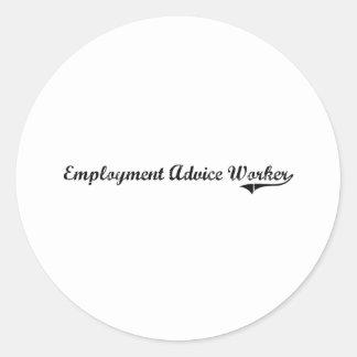 Employment Advice Worker Professional Job Round Sticker