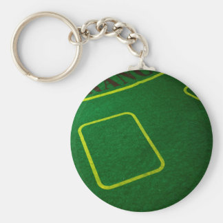 Emply Poker Table Closeup Keychain