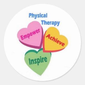 Empower, Achieve, Inspire Classic Round Sticker