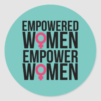 Empower Women Classic Round Sticker