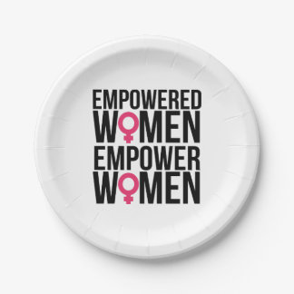 Empower Women Paper Plate