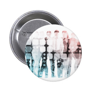 Empowered Professionals Working as a Team Concept 2 Inch Round Button