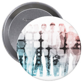 Empowered Professionals Working as a Team Concept 4 Inch Round Button