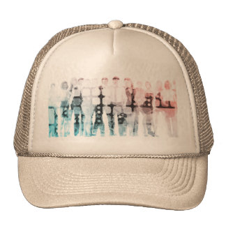 Empowered Professionals Working as a Team Concept Trucker Hat
