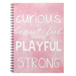 Empowering Inspiring Notebook for Strong Girls