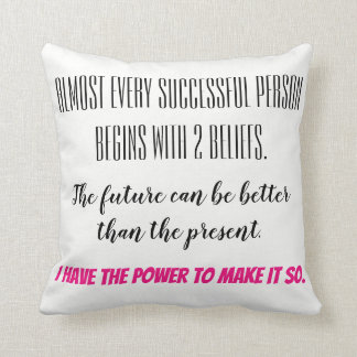 Empowering Thoughts Throw Pillow