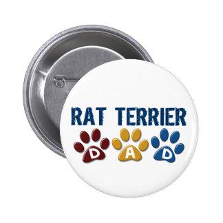 Empreinte de patte 1 de maman de RAT TERRIER Macaron Rond 5 Cm