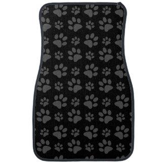 Empreinte de patte de chien noir tapis de sol
