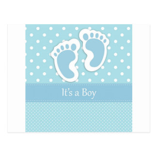 Empreintes de pas de bébé adorables carte postale