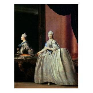 Empress Catherine II before the mirror, 1779 Postcard