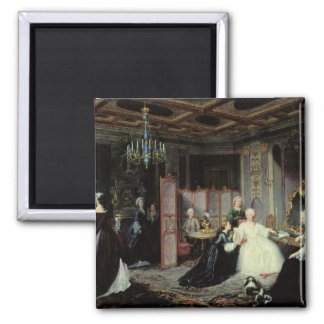 Empress Catherine the Great  receiving a Square Magnet