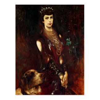 Empress Elizabeth of Austria, 1883 Postcard