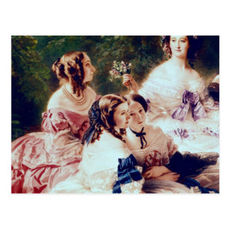 Empress Eugenie  and her Ladies in Waiting Postcard