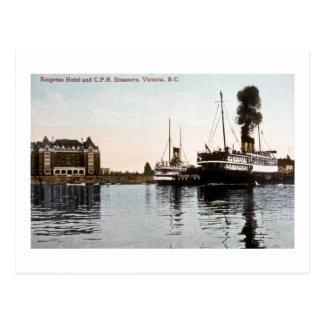 Empress Hotel and C.P.R. Steamers, Victoria, B.C. Postcard