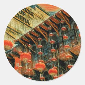 Empress of China Classic Round Sticker