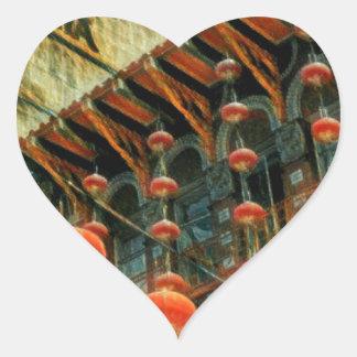 Empress of China Heart Sticker