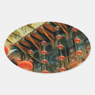 Empress of China Oval Sticker