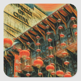 Empress of China Square Sticker