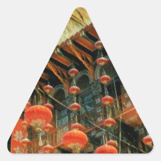Empress of China Triangle Sticker