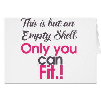 empt shell card