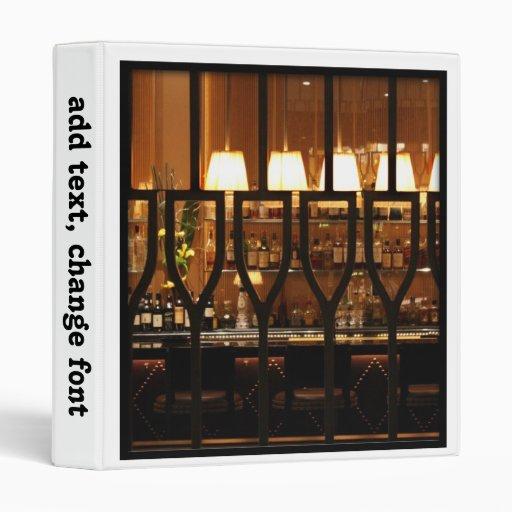 Empty Bar Room Binders