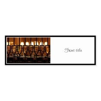 Empty Bar Room Double-Sided Mini Business Cards (Pack Of 20)