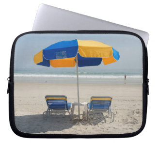 Empty Beach Chairs Laptop Sleeve