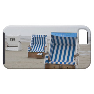 empty beach chairs on beach iPhone 5 cases