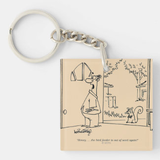 Empty Bird Feeder Keychain