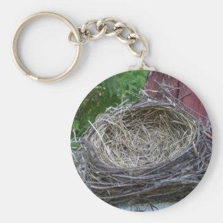 Empty Bird's Nest Basic Round Button Keychain