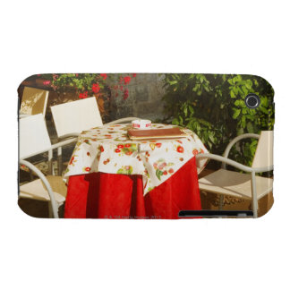 Empty chairs at a sidewalk cafe, Piazza della iPhone 3 Case-Mate Case