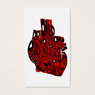 empty chest : anatomical heart business card