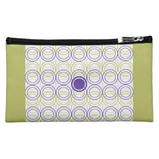 Empty circles makeup bag
