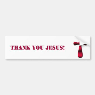 Empty Easter Cross of Jesus' Resurrection Bumper Sticker