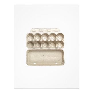 Empty egg carton customized letterhead