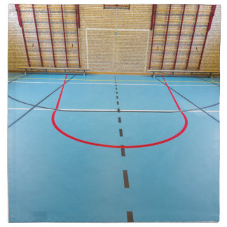 Empty european gymnasium for school sports napkin