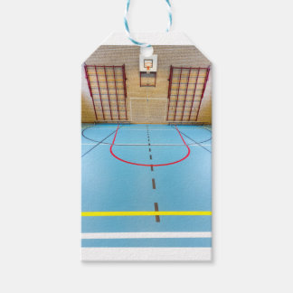 Empty european gymnasium for school sports pack of gift tags