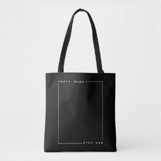 Empty mind stay zen tote bag