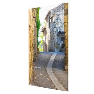 Empty Narrow Street, France Canvas Print