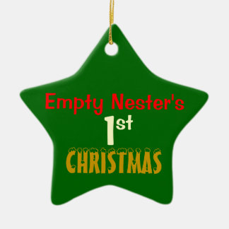 Empty Nest 1st Christmas Green Star Ceramic Star Ornament