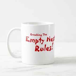 Empty Nest Rules! Basic White Mug