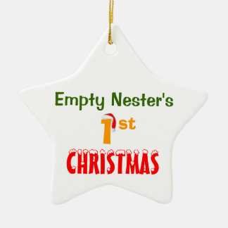Empty Nester's 1st Christmas Ceramic Ornament