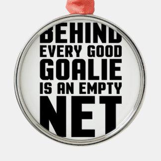 Empty Net Metal Ornament