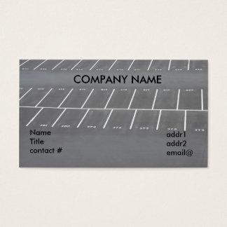 empty parking lot business card
