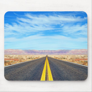Empty road mouse pad