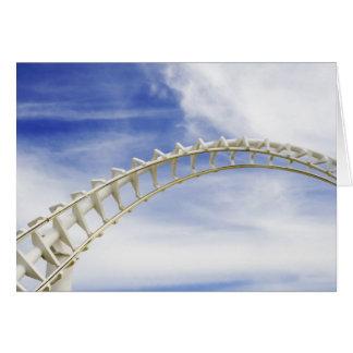 Empty roller coaster tracks card